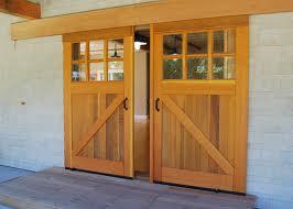 sliding barn door with windows