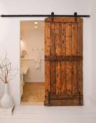 Sliding Barn door in a Bathroom