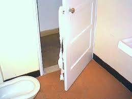 Swinging Bathroom Door