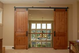 Double door sliding barn door kit