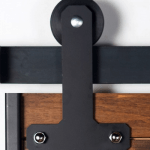 Custom rollers for Sliding barn door hardware
