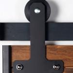 Custom rollers for Sliding barn door hardware